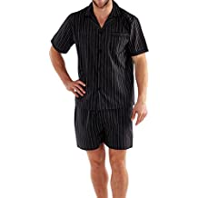 hombre verano Set Pijama Top Manga Corta & Pantalones Cortos