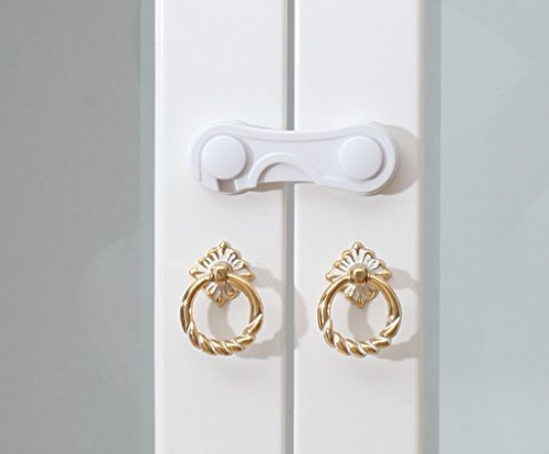 Cabinet Lock Baby Cabinet Verrou Lock Cabinet Verrouillage de sécurité Baby Lock Verrouillage du réfrigérateur Serrure de tiroir (1 Set 2 Pcs)