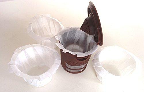 canFly Einweg-K-CUP Papierfilter für Keurig einzige Tasse Kästlein Filter kompatibel mit Ekobrew, EZ-Cup und andere wiederverwendbare K-CUP Filter Weiß 300 (Einweg-k-cup-filter)