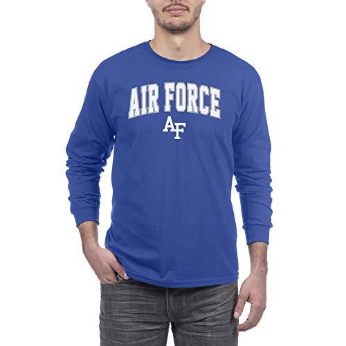 eLITe NCAA Herren Langarmshirt Air Force Falcons, Blau, Größe XXL -