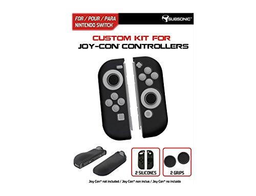 Subsonic – Housses de protection en silicone pour Joy-Con – Skin de protection avec grip de précision pour joysticks – Custom Kit compatible JoyCon Nintendo Switch