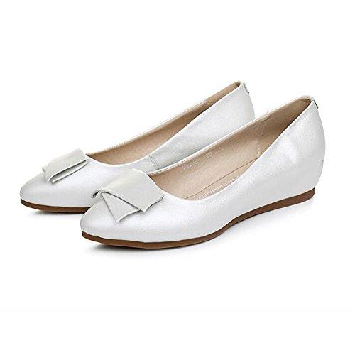 QIDI-sandalen QIDI Freizeitschuhe Frau Atmungsaktiv Gummi Modisch Flacher Boden Einzelne Schuhe (Farbe : T-1, Größe : EU37/UK4.5-5)