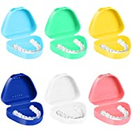 ROSENICE Retainer Case - 6pcs Mouth Guard Case with Vent Holes - Sterile, Strong Hinge, Easy to Close - Orthodontic Dental Retainer Box Denture Storage Container