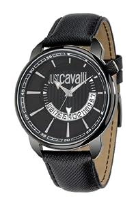 Just Cavalli R7251181025 - Reloj analógico de cuarzo para hombre con correa de piel, color negro de Just Cavalli