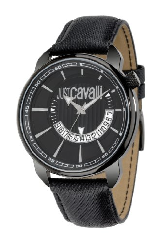 Just Cavalli - R7251181025 - Montre Homme - Quartz Analogique - Cadran Noir - Bracelet Acier Noir