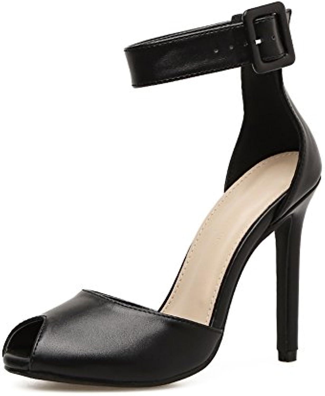 SASA SASA SASA Sandali tacco alto delle donne New Sexy Fish Mouth di alta qualità PU Stiletto Sandali tacco alto super scarpe... | Altamente elogiato e apprezzato dal pubblico dei consumatori  | Gentiluomo/Signora Scarpa  7babb1