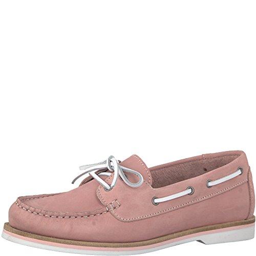 Tamaris 1-1-23616-20 Damen Bootsschuhe, Halbschuhe, Schnürschuhe, Schnürer, Sommerschuhe für die modebewusste Frau pink (LT.PINK NUBUC), EU 40