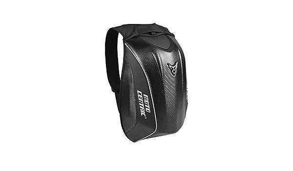 Luerme Carbon Fiber Motorcycle Backpack Rider Motorcycle Waterproof Hardshell No Drag High Capacity Motorcycle Backpack Riding Laptop Bag