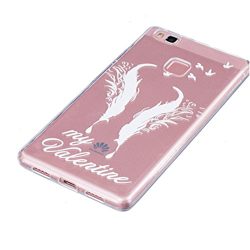 Pour iPhone 6 6S (4,7 Zoll) Coque,Ecoway Housse étui en TPU Silicone Shell Housse Coque étui Case Cover Cuir Etui Housse de Protection Coque Étui –carthame Double Double plume