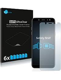 Savvies Schutzfolie für Samsung Galaxy A6 (2018) [6er Pack] Folie Displayschutzfolie - Displayfolie klar