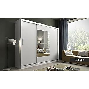 Kleiderschrank schiebetüren weiß  Kleiderschrank Weiß Schiebetüren Mit Spiegel | Deine-Wohnideen.de