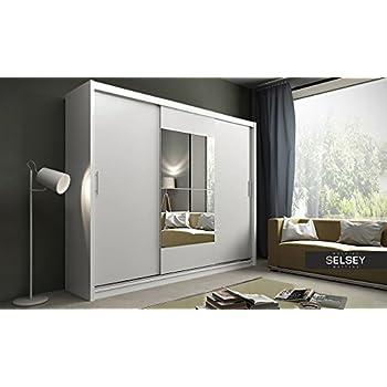 Kleiderschrank weiß schiebetüren spiegel  Kleiderschrank Vista, Schwebetürenschrank mit Spiegel, Schiebetür ...