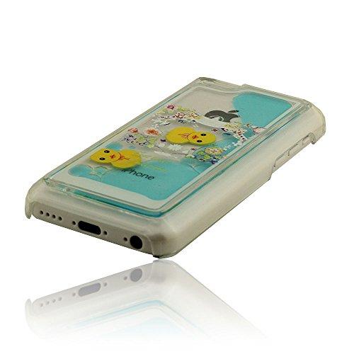 À la mode Coque Case pour iPhone 5C + S-pen, Liquide Style, Jaune Canard Série, Clair Transparent, Beau Fallen Fleurs Apparence, Prime Coque A