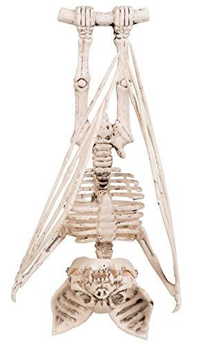 ion Figur Fledermaus Skelett 29 cm, Unisex- Erwachsene, weiß, ()