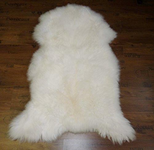 Natur-Fell-Shop XXL Schaffell wie Eisbär weiß 130-140cm