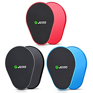 JGOO Gliding Discs Core Sliders Fitness Set von 4 Sliding Discs Dual Sided Use auf jeder Oberfläche, für Crossfit, Gym, Reisen oder Home Workouts, Oberkörper Glutes Bauchtraining Ganzkörper Workout