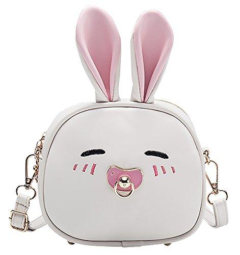 e3cbe04cb88d6 Happy Cherry Klein Mädchen Tasche Kinder Tasche Prinzessin Umhängetasche PU  Leder Handtasche Hase.