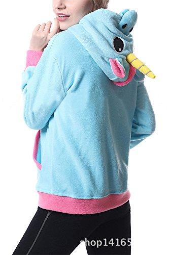Luojida Damen Kapuzenpullover Blau