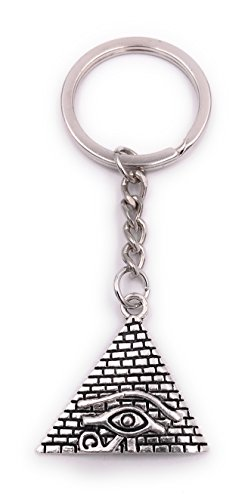 H-Customs Pyramide Ägypten Auge der Vorsehung Schlüsselanhänger Anhänger Silber aus Metall