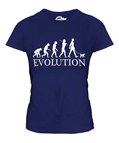 Candymix - Toy Poodle Evolution Of Man - Ladies Fitted T Shirt Top T-Shirt