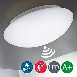 LED Deckenleuchte, Sicherheitsbeleuchtung, Deckenlampe, Radar-Bewegungssensor, Bewegungsmelder, Automatikleuchte, Mikrowellen-sensor, Sensorleuchte, Außenbeleuchtung, Balkon, Innenbeleuchtung, IP44