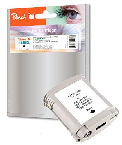 Preisvergleich Produktbild Peach Tintenpatrone schwarz kompatibel zu HP No. 940XL, C4906AE
