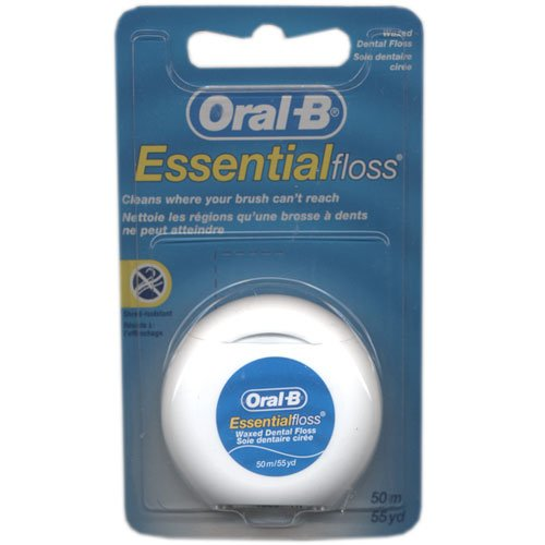 Oral-B Essential Floss 50 m Waxed (Pack of 6) (Zahnseide)