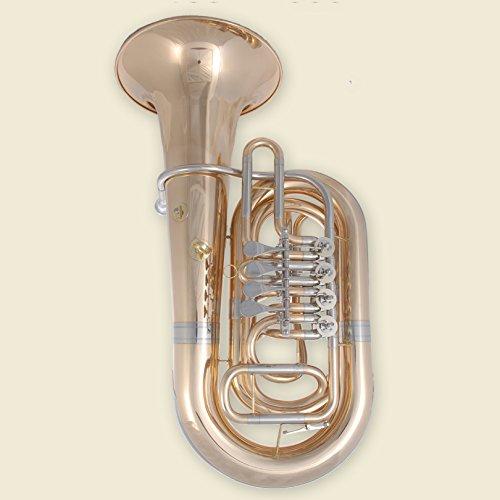 Tuyama® TTU-212 Tuba in C 4 Drehventile Messing mit Mundstück und Koffer 9111 Neu