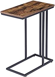 HOOBRO Side Table, Snack Table Heavy-Duty Sofa Side Table for Living Room, Bedroom, Easy Assembly, Space Savin