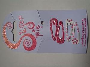 Sugar Pie S01C080 - Clips Decorativos con Flores y Purpurina