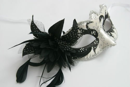 erlglanz Blume u. Federn Venezianische Maskerade Partei Karneval Maske (Venezianische Feder Maske Blume)