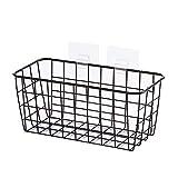 SMARTRICH Cestas de Almacenamiento Colgantes, Caja de Almacenamiento Rectangular para baño, para artículos del hogar, Negro, Small