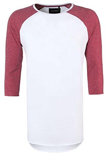 Sky Rebel Herren College-Shirt 3/4-Arm JOSH   Basic Longsleeve mit Rundhals-Ausschnitt