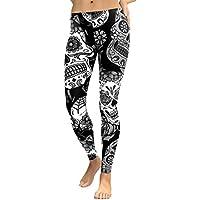 Hey! Floral Leggings deporte mujer,Longra ★ Las mujeres de cintura alta de impresión Gym Yoga Running Fitness Leggings Pants Ropa de entrenamiento (Negro, S)