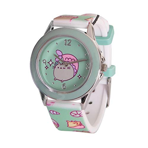 b9142033a784 Accutime Watch Corp. Pusheen Montre au Poignet Purrmaid Cat Analog Turquoise