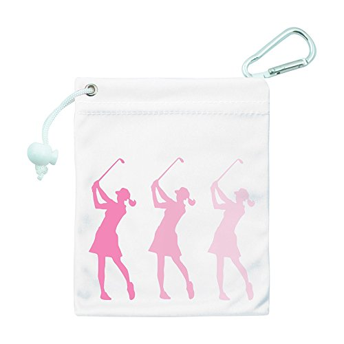 Surprizeshop Golf Tee and Accessory Bag. Pink Lady Golfer. -