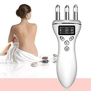 alivia tensión en ligamentos: Multi-función masajeador magnético calentado cara delgada instrumento cuello pie...