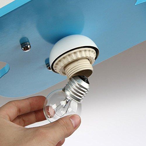 HOME Kinderzimmer Kronleuchter Augenschutz Beleuchtung Junge Mädchen Zimmer Schlafzimmer Lichter Kreative Lampen ( farbe : Blau ) - 3