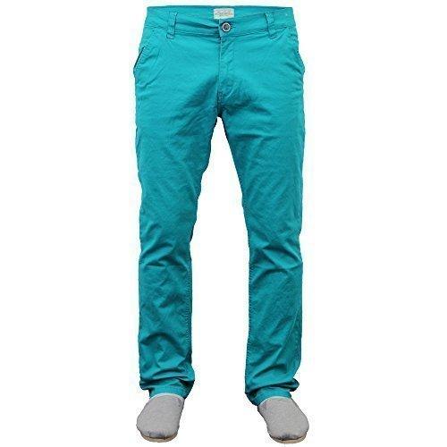 Uomo Jeans Chino Jack South Gamba Dritta Pantaloni Vestibilità Regolare Pantaloni Estate Nuovo - cotone, Inverno Smeraldo, 2% spandex 98% cotone, Uomo, Vita 32 x gamba 33