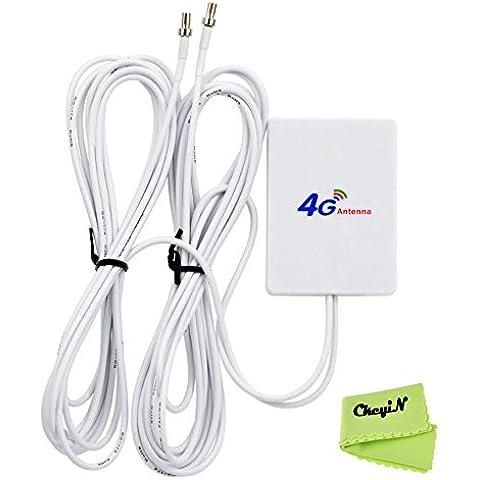 Ckeyin ® LTE doble TS9 interfaz de conector de antena externa Amplificador de señal del amplificador de 28dBi con 2,9 m de cable para / router móvil 3G 4G (Mobile WiFi HotSpot 4G -à router de bolsillo y un módem USB