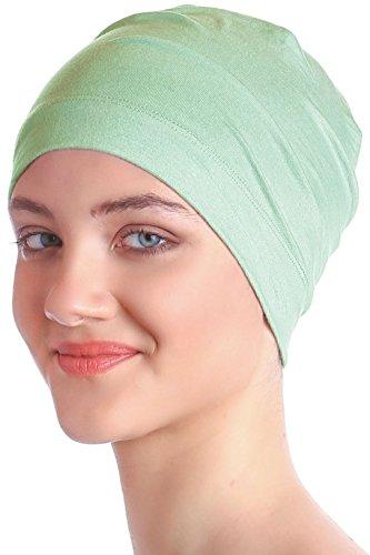 Unisex Kappe Aus Baumwolle für Krebs, Haarverlust - Schlafmütze (Apfelgrün)