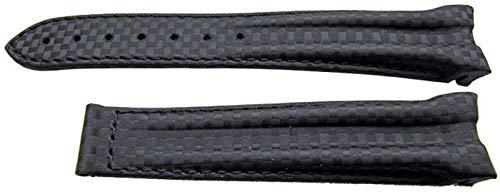 Authentisches Omega Uhrenarmband 20mm Gummi - Schwarz (Cordmide)