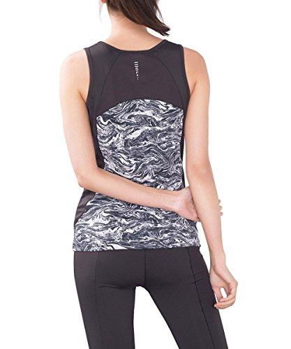 Esprit Sports Active/Training E-Dry Funktionstop Mit Alloverprint, Top de Femme Gris (ANTHRACITE 3 012)