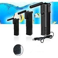 Lanyifang Ap 300-1000 LPH Vertical Interno Acuario Pecera Filtro Incorporado Filtración Bomba Barra Rociadora Plastico Negro EU (AP-300L)