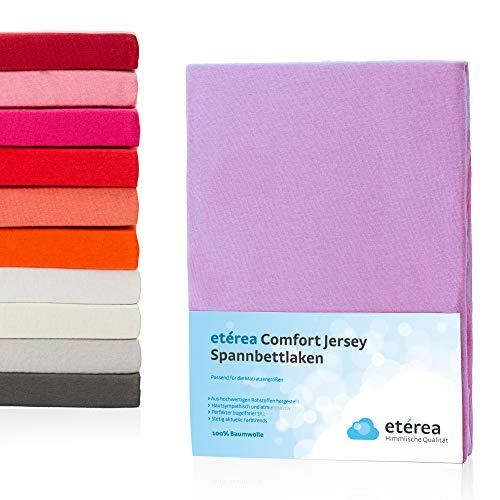 Etérea Jersey Spannbettlaken - Serie Comfort - 100% Baumwolle Spannbetttuch Farbe Violet, in der Größe 140x200-160x200cm