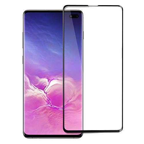 TiMOVO Screen Protector Compatible with Galaxy S10 Plus, Full 3D Curved Edge Anti-Scratch Ultra Clear 9H Hardness Tempered Glass Screen Protector Fit Samsung Galaxy S10 Plus - Black