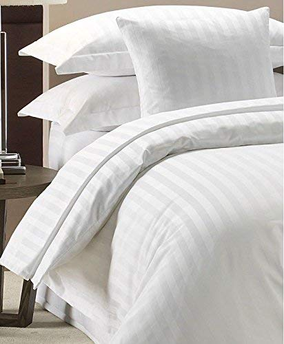 Duvet Cover Set 300 Thread Count White 100% Egyptian cotton Hotel Quality (Double)