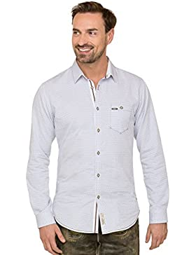 Trachtenhemd Langarm Drake Hellblau Modern Fit