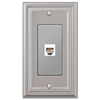 Amerelle 94PHN Continental Satin Nickel Cast 1 Phone Wallplate