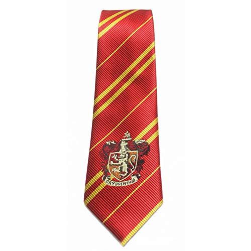 YMCHE Krawatte Kostüm gestreifte Krawatte, Schulkrawatte für Cosplay Kostüme Accessoires für Halloween und Weihnachten (Gryffindor Krawatte Und Schal)